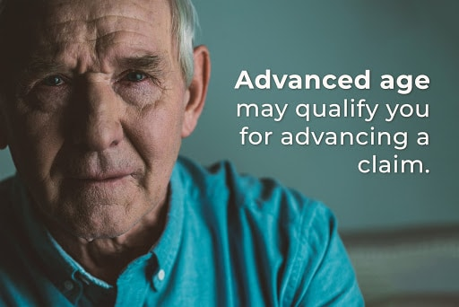 Advanced age may qualify you for advancing a VA claim