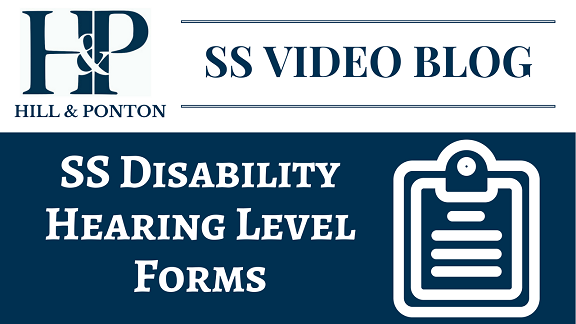SS Video Blog - SS Disability Hearing Level Forms