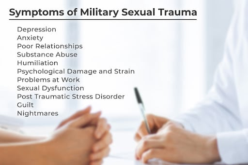 military sexual trauma signs and symptoms